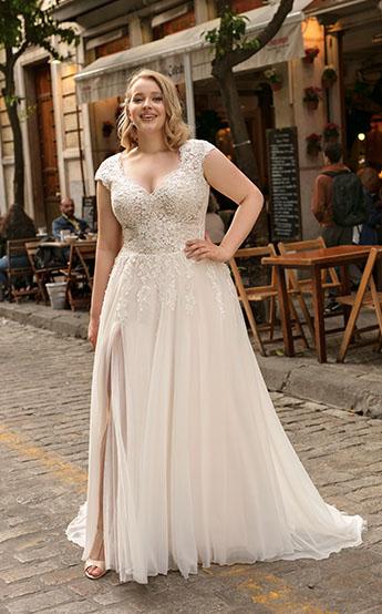 lovely Suknie ślubne w większych rozmiarach 44+