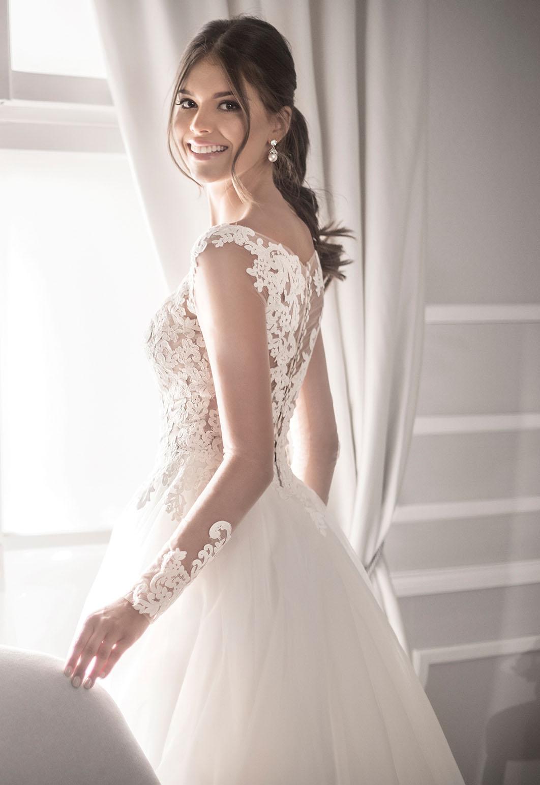 Niesamowite Kolekcja sukni ślubnych Agnes - koronkowe suknie ślubne VJ71