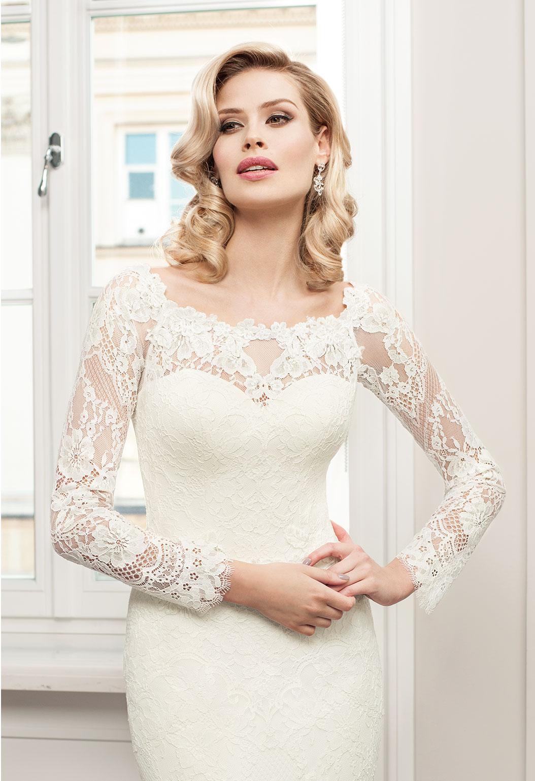 57c16a4ab0 Znany Kolekcja sukni ślubnych Agnes - koronkowe suknie ślubne  ID-76