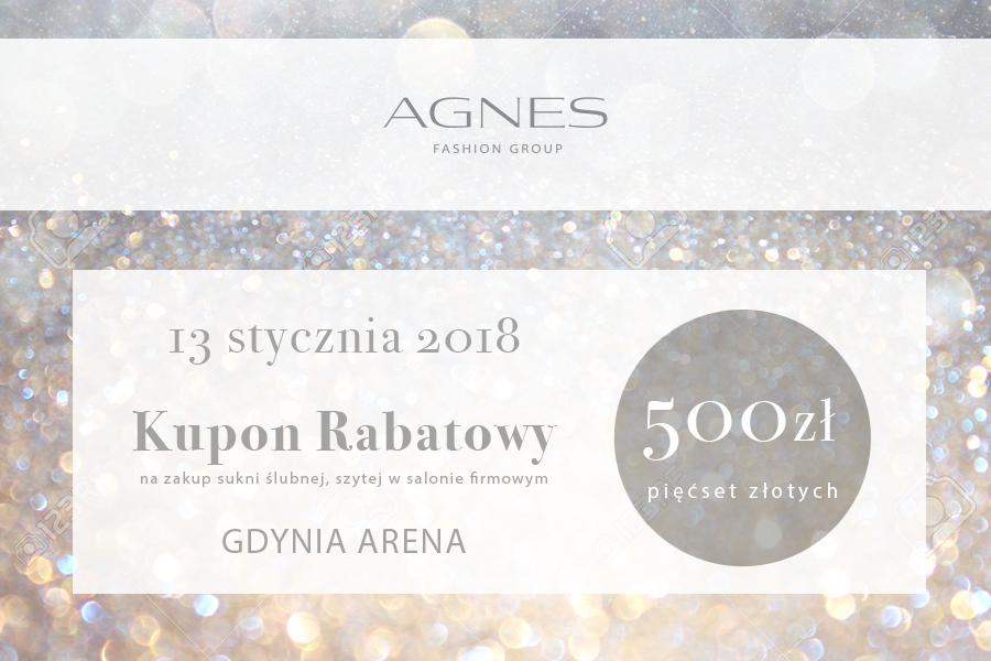 AGNES GDYNIA kupon rabatowy 500 zł