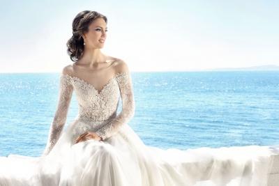 suknia ślubna 17074T zbliżenie