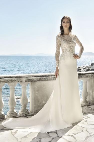 suknia ślubna 17076T zbliżenie