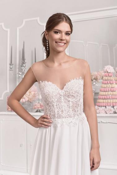 suknia ślubna 18034T zbliżenie