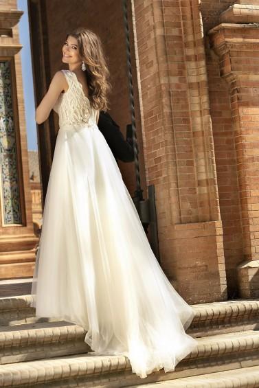 suknia ślubna TO-1187T tył