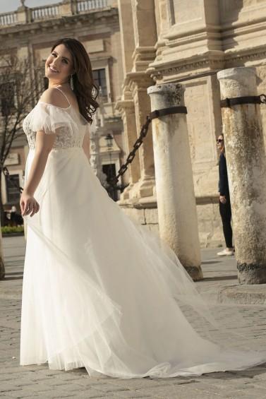suknia ślubna LO-240T tył