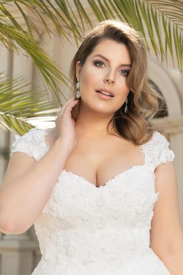 suknia ślubna LO-146T zbliżenie