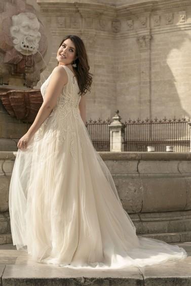 suknia ślubna LO-192T tył