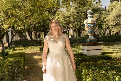 suknia ślubna LO-193T zbliżenie