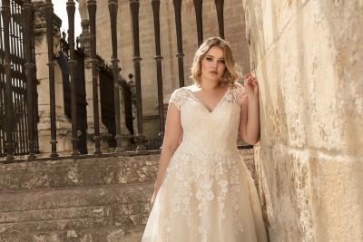 suknia ślubna LO-194T zbliżenie