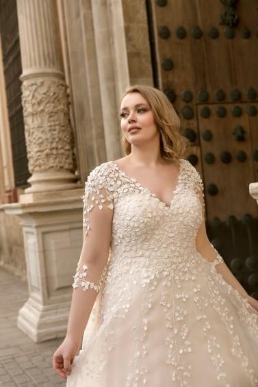 suknia ślubna LO-196T zbliżenie