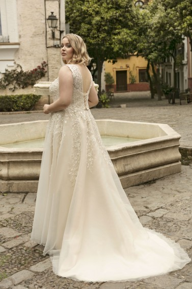 suknia ślubna LO-198T tył