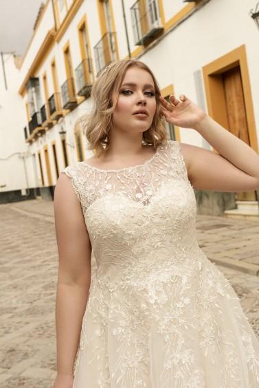 suknia ślubna LO-198T zbliżenie