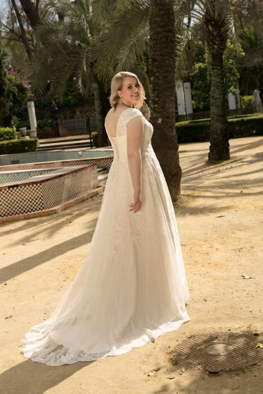 suknia ślubna LO-199T tył