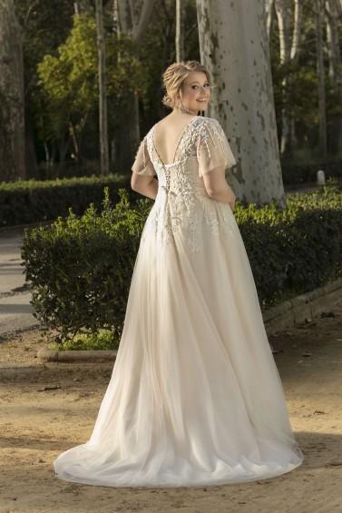 suknia ślubna LO-224T tył