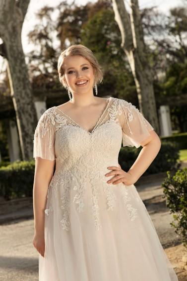 suknia ślubna LO-224T zbliżenie