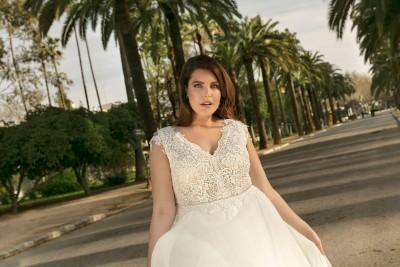 suknia ślubna LO-228T zbliżenie