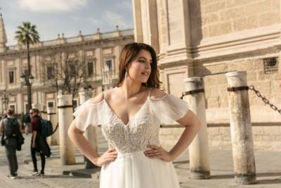 suknia ślubna LO-240T zbliżenie