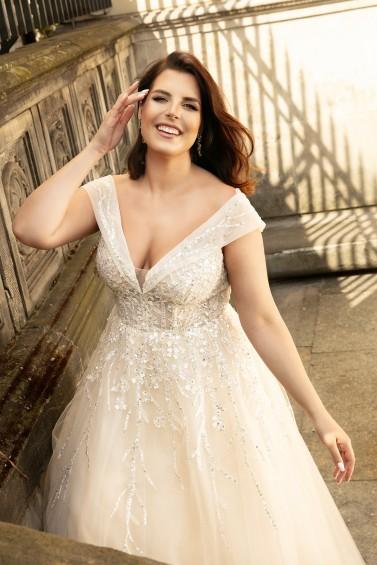 suknia ślubna LO-253 zbliżenie