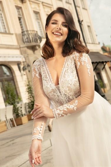 suknia ślubna LO-259T zbliżenie