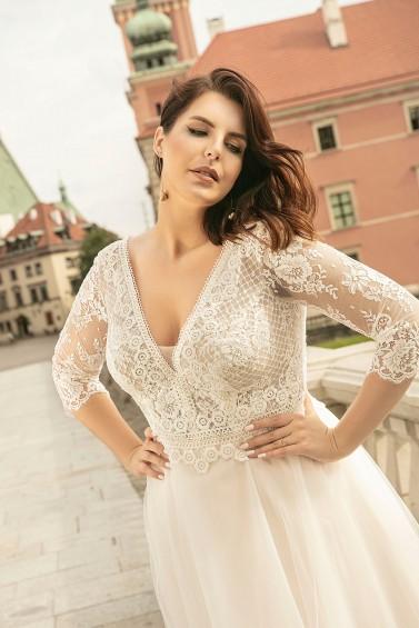 suknia ślubna LO-261T zbliżenie