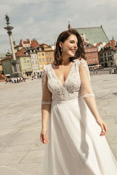 suknia ślubna LO-263T zbliżenie