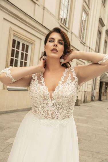 suknia ślubna LO-267T zbliżenie