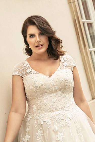 suknia ślubna LO-268T zbliżenie