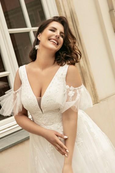suknia ślubna LO-269T zbliżenie