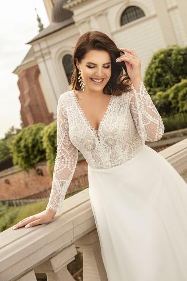suknia ślubna LO-271T zbliżenie