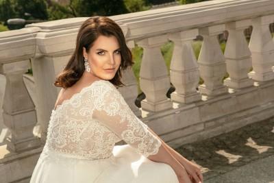 suknia ślubna LO-272T zbliżenie
