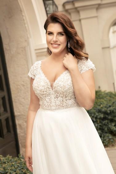 suknia ślubna LO-273T zbliżenie