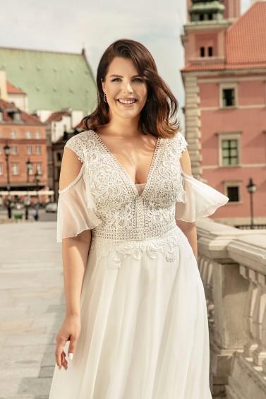 suknia ślubna LO-275T zbliżenie