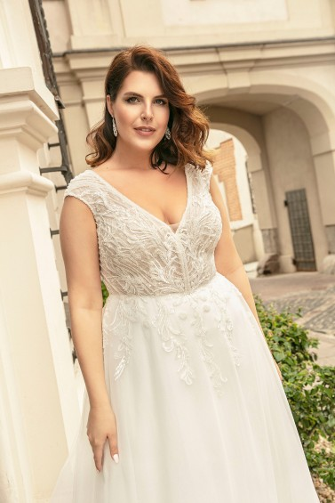 suknia ślubna LO-276T zbliżenie