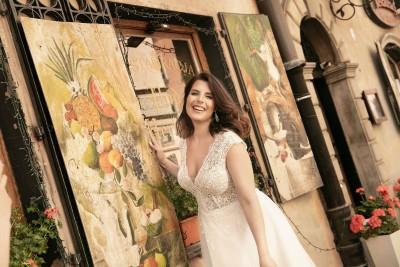 suknia ślubna LO-277T zbliżenie