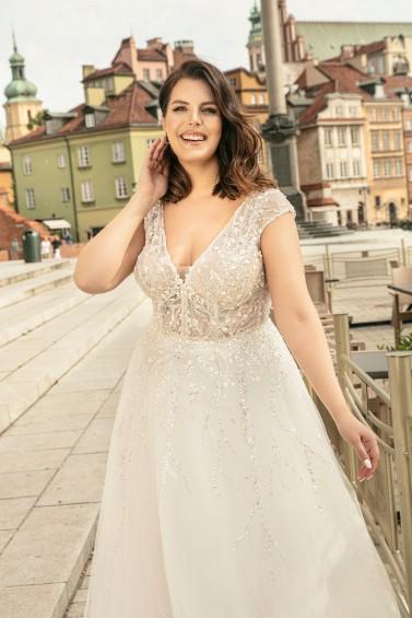 suknia ślubna LO-278T zbliżenie