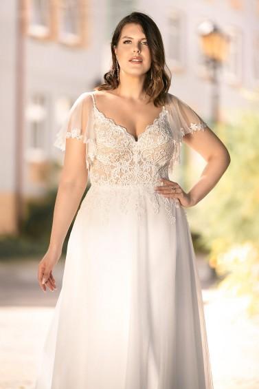 suknia ślubna LO-282T zbliżenie