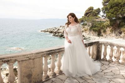 suknia ślubna LO-49T zbliżenie