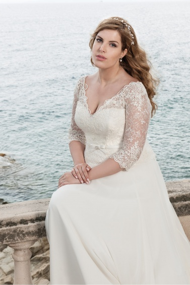 suknia ślubna LO-50T zbliżenie