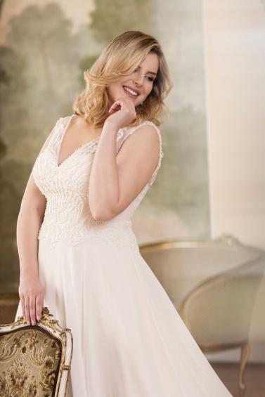 suknia ślubna LO-77T zbliżenie