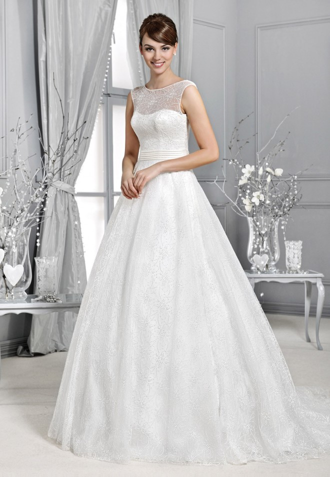 Crystal Collection - Wedding dresses - Agnes - lace wedding ...