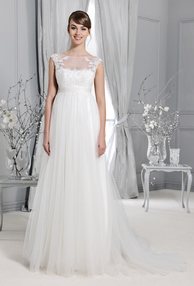 14028 Crystal Collection Wedding Dresses Agnes Lace Wedding