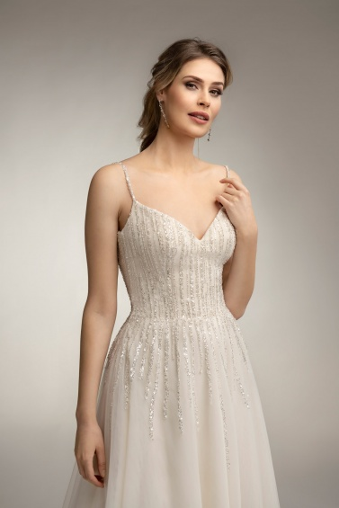 suknia ślubna TO-1001T zbliżenie