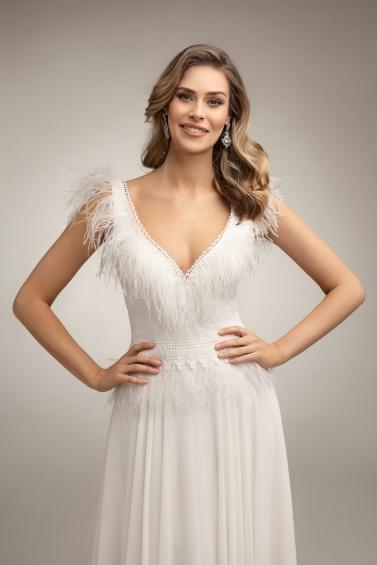suknia ślubna TO-1007T zbliżenie