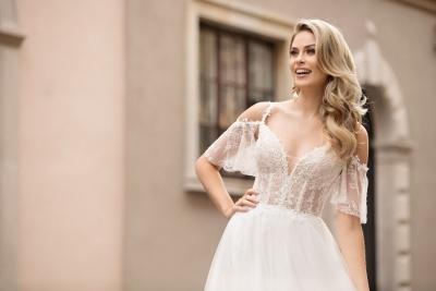 suknia ślubna TO-1034T zbliżenie