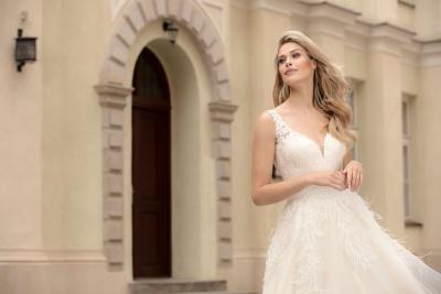 suknia ślubna TO-1048T zbliżenie