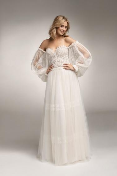 suknia ślubna TO-1076 tył