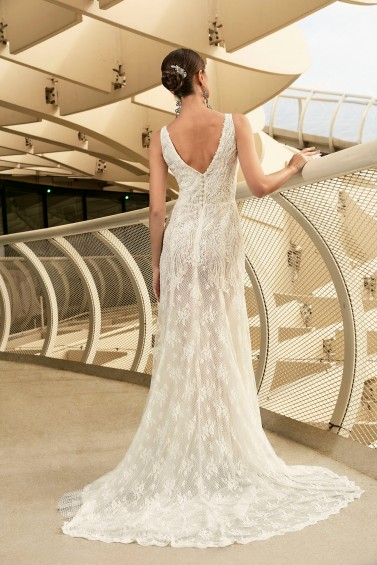 suknia ślubna TO-1095T tył