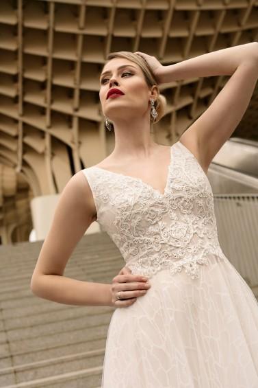 suknia ślubna TO-1116T zbliżenie