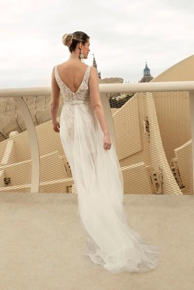 suknia ślubna TO-1123T tył