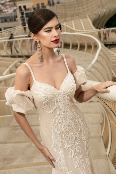 suknia ślubna TO-1124T zbliżenie